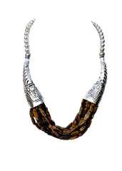 Dungchen Tiger Eye Necklace - NIIRVA - 1