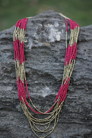 Long Block Necklace - NIIRVA - 1