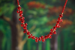 Cut Glass Bead Necklace - NIIRVA - 1