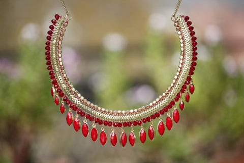 Beaded Collar Necklace - NIIRVA - 2