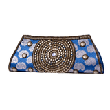 Beaded Jacquard Clutch Purse - NIIRVA - 1