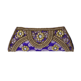Beaded Jacquard Clutch Purse - NIIRVA - 2