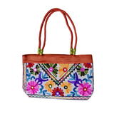 Embroidered Small Tote Bag - NIIRVA - 1