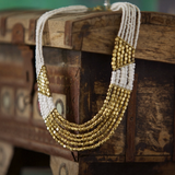 Gold Pattern Necklace - NIIRVA - 1