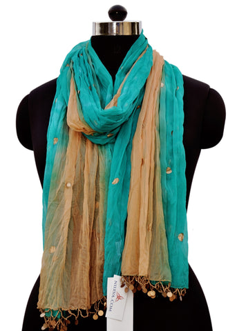 Gold Accent Scarf - NIIRVA - 1