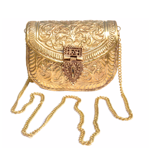 Carved Metal Purse - NIIRVA - 1