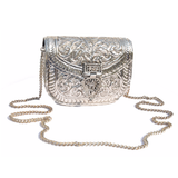Carved Metal Purse - NIIRVA - 2
