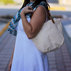 White Tote Bag - NIIRVA