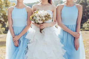 Midsummer's Night Tulle Dress In Sky Blue