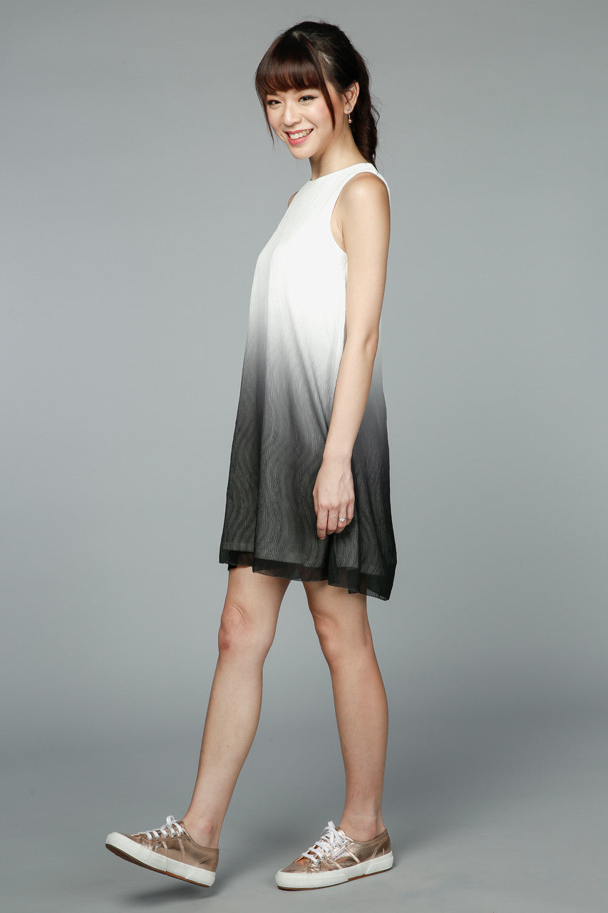 Back In Stock* Jessica Ombre Tank Dress in Black