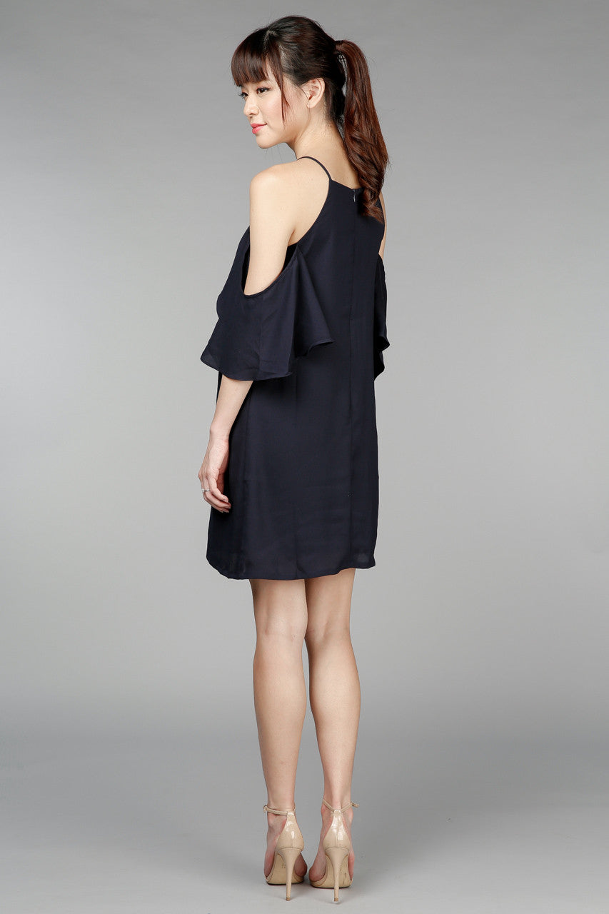 Back In Stock* All A Flutter A-Line Dress in Navy