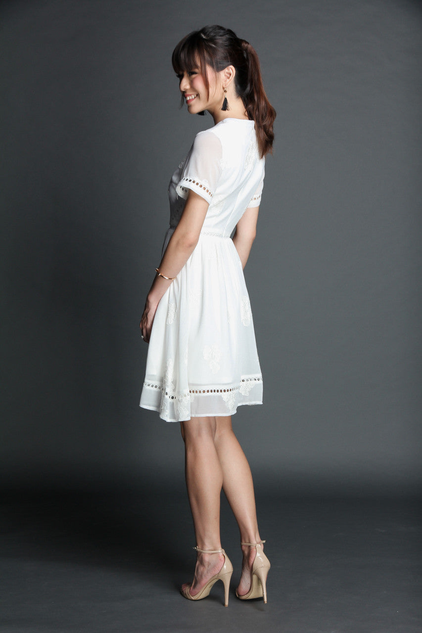 Leah Eyelet Crochet Dress