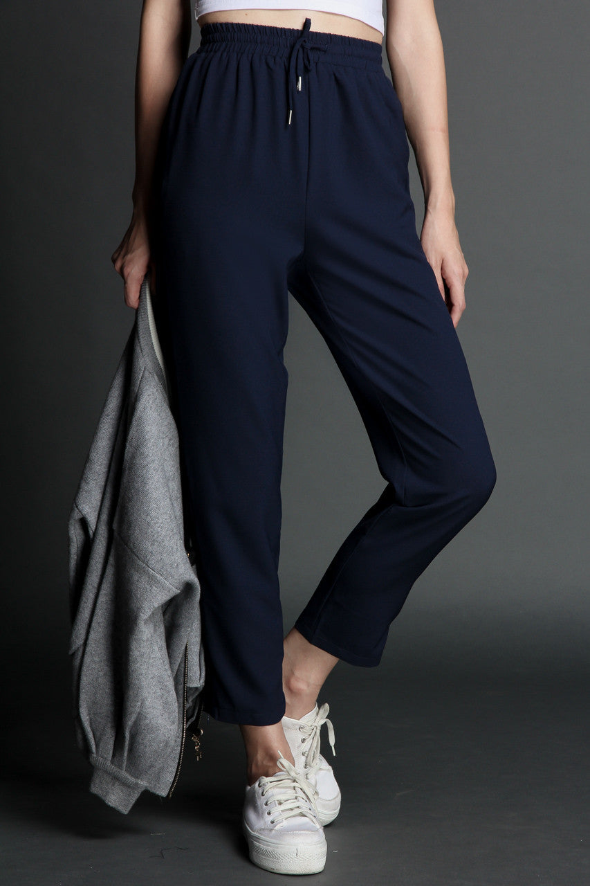 Stay On Track Jogger Pants in Navy