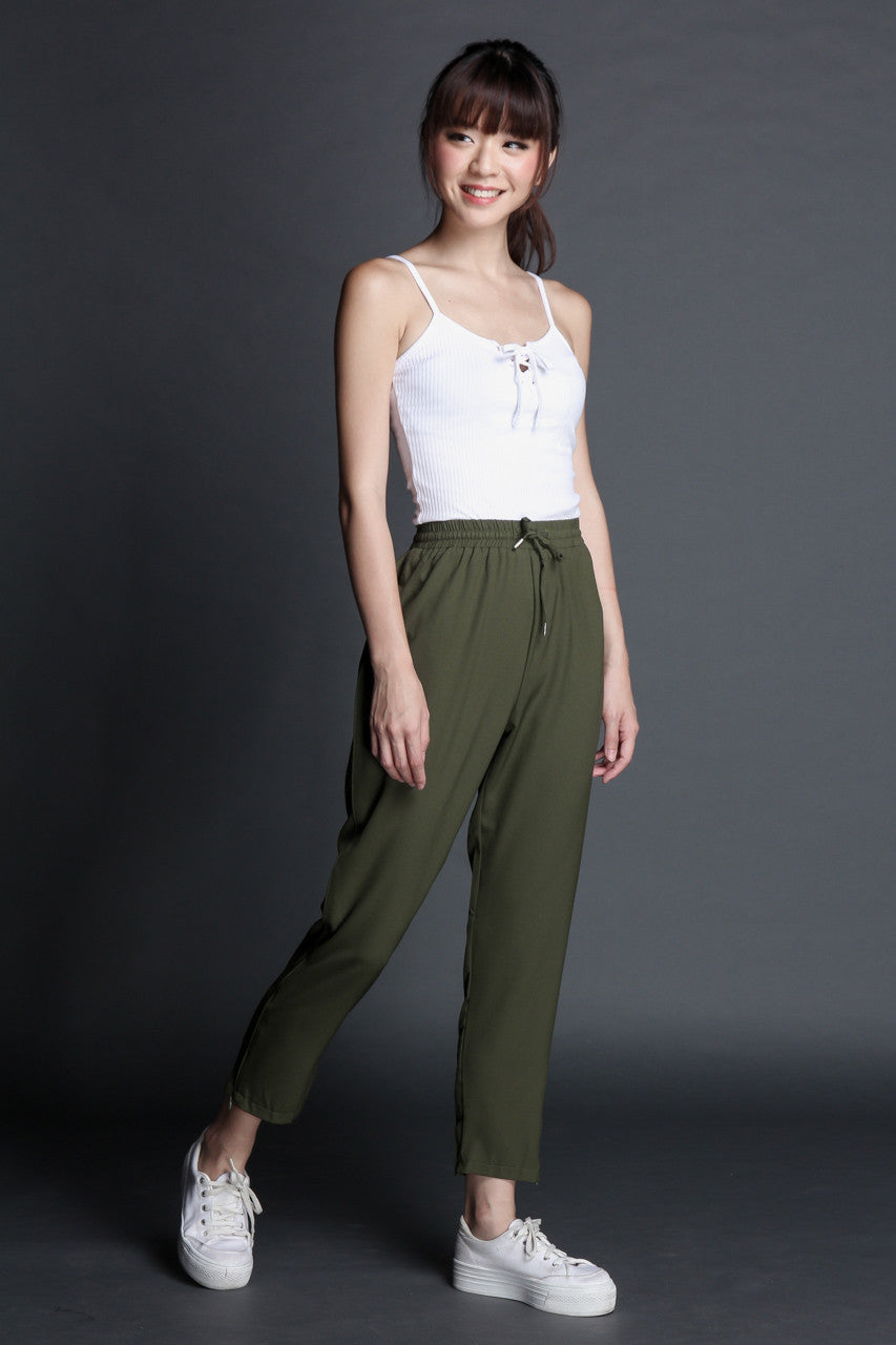 Stay On Track Jogger Pants in Olive