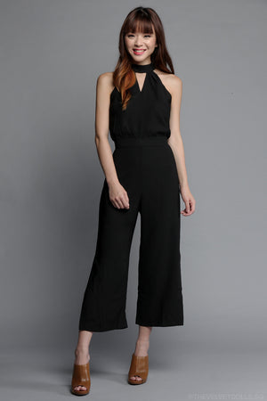 Restocked* Marissa Keyhole Jumpsuit in Black