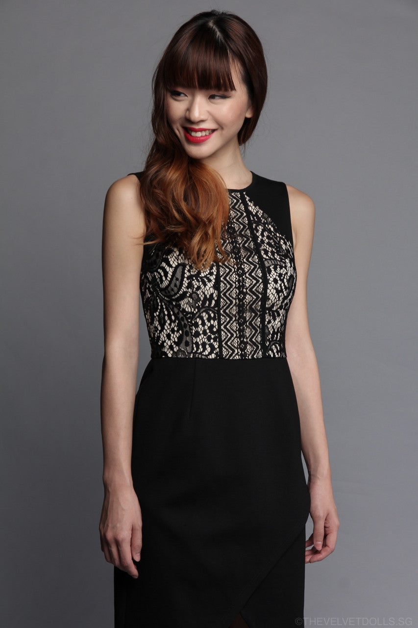 Clyde Lace Dress in Black