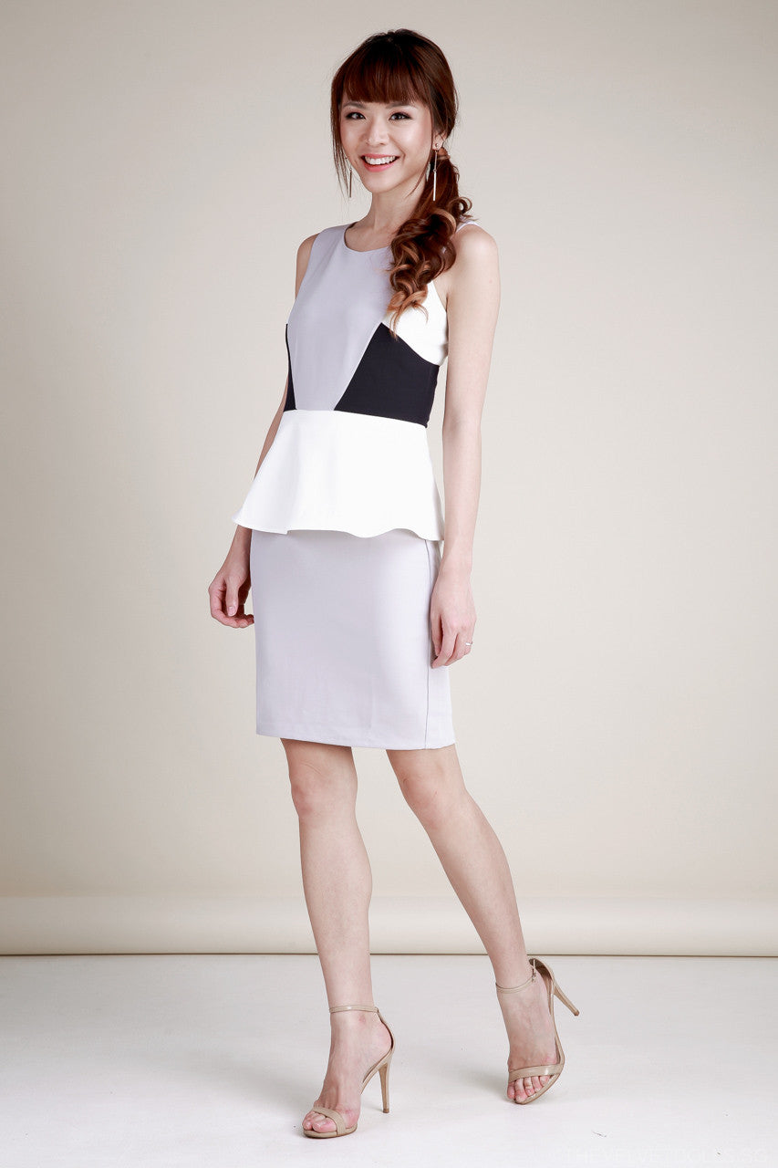 Gigi Colorblock Peplum Dress