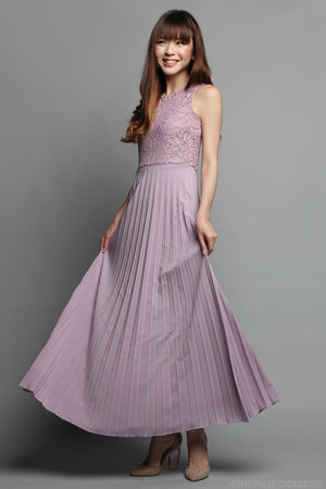 Restocked** Summer Romance Maxi in Dusty Lilac