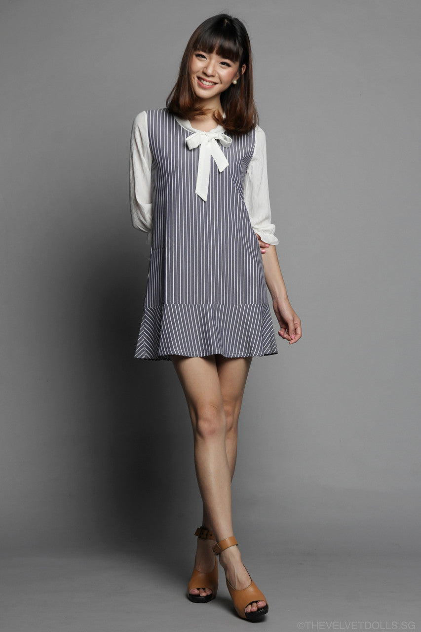 Sailorette Striped Dress