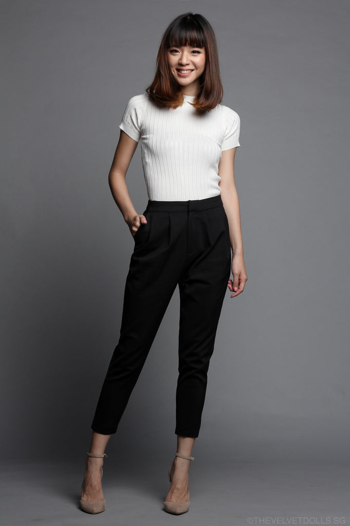 Sheila Tailored Pants in Black