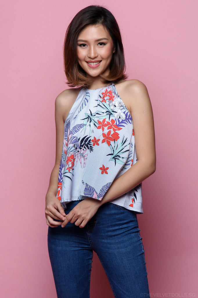 Tropical Island Trapeze Top