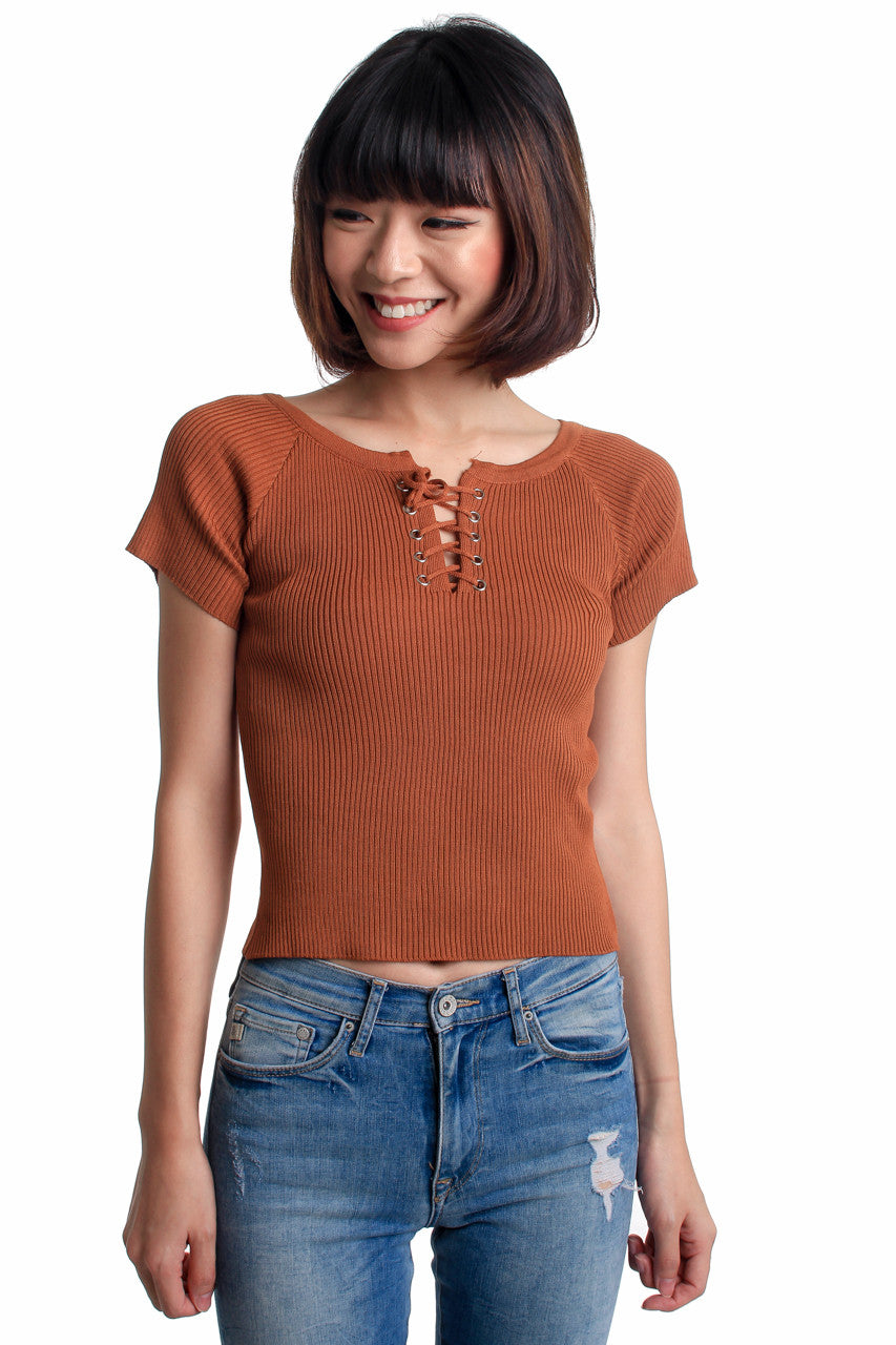 Basic Shoelace Top in Rust