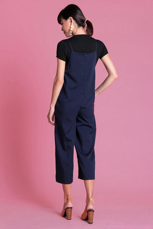 Restocked* Arissa Strappy Culottes Jumpsuit in Navy