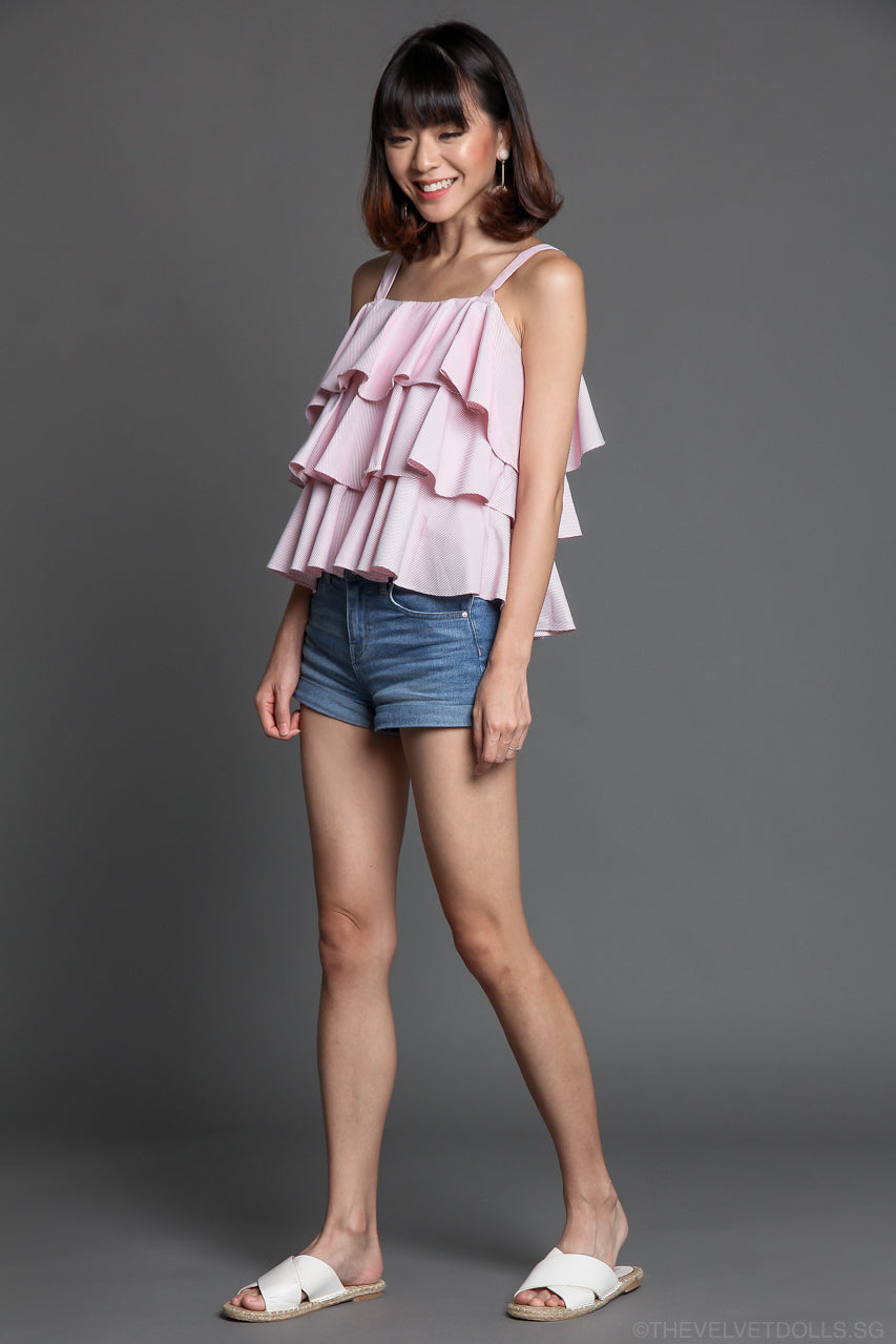 Lula Layered Top in Pink