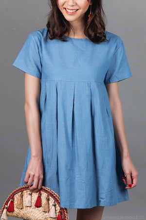 Blue Danube Playsuit in Denim