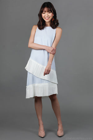 Alissa Layered Pleats Dress