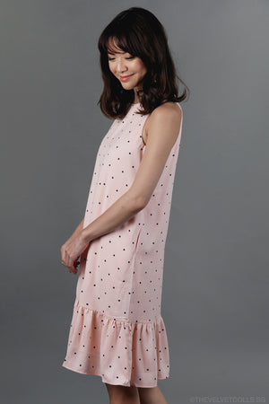 Restocked* Connect The Dots Drophem Dress in Pink