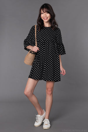 Dotty Aspirations Romper in Black