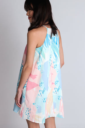 Isa Trapeze Dress in Paddlepop