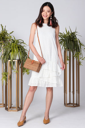 Restocked* Hawaii Dreams Eyelet Dress in White
