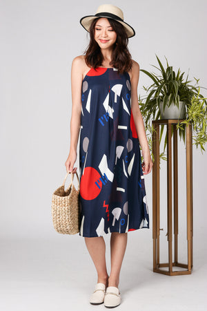 Restocked* Kikki Midi Slip Dress in Navy