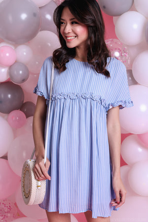 Close To You Playsuit in Blue Stripes