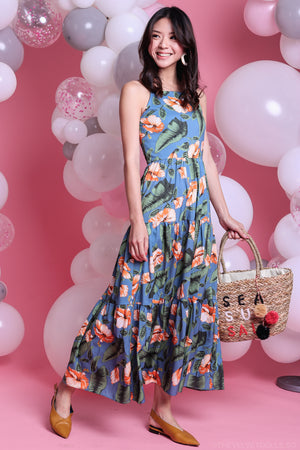 Hibiscus Floral Maxi Dress