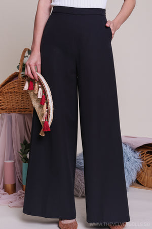 Dione Palazzo Pants in Black