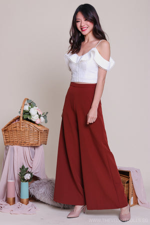 Dione Palazzo Pants in Rust