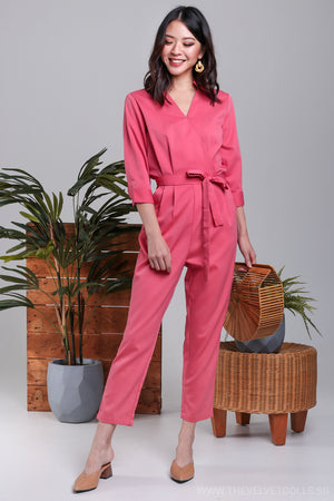 Kipling Utility Jumpsuit in Taffy Pink