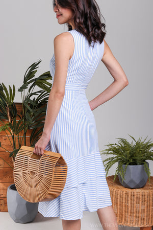 Restocked* Brighton Mermaid Tier Dress in Stripes