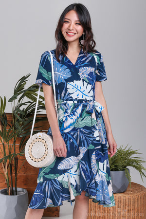 Annabelle Leafy Wrap Dress