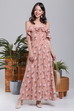 Maisy Daisy Ruffle Maxi Dress