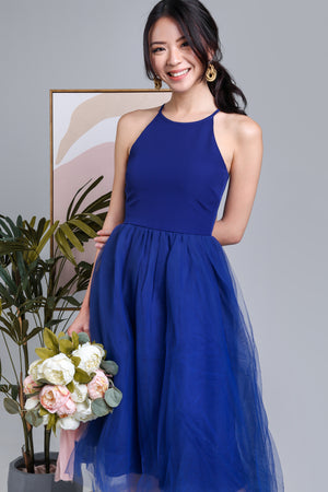 Midsummer's Night Tulle Dress in Indigo