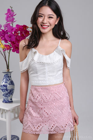 Fairfield Crochet Skorts in Pink