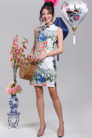 Spring Time Cheongsam in White