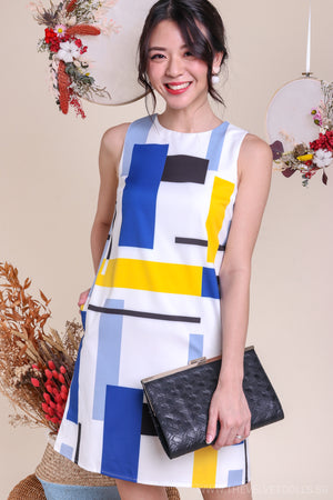 Pop Art Shift Dress in Yellow