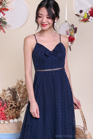 Viva La Vida Midi Dress in Navy