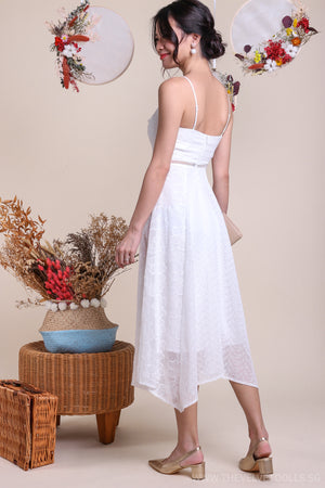 Viva La Vida Midi Dress in White