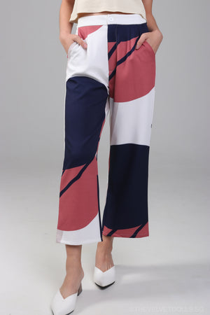 Aspen Abstract Graphic Culottes
